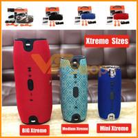 mini-boom großhandel-JBL Xtreme Mini Mittelgroßer Bluetooth-Lautsprecher Tragbarer Subwoofer Drahtloser Lautsprecher mit Tragegurten MP3-Musik-Player Booms Box