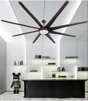 Wholesale luxury ceiling lights resale online - 100 inch American luxury industrial wind ceiling fan light DC110V V Nordic creative large Ceiling Fans Ventilador De Techo