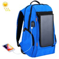 Wholesale solar panels bag resale online - New Solar Panel Outdoor Charging Backpack with USB Port Waterproof Breathable Travel Bag Wear resisting Anti theft Backpack
