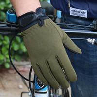 luva táctica dedo completo venda por atacado-Táticas antiderrapantes luvas de dedos completos luvas de escalada ao ar livre esportes de fitness proteção solar equitação luvas de ciclismo tático mitten LJJZ563