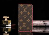 ingrosso tazze di aspirazione di iphone-Con piccola ventosa Flip wallet case holster Custodia in pelle per iPhone Xs max 7 7plus 8 8plus 6 6plus Xr X Xs con slot per schede