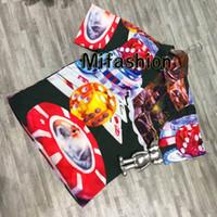 ingrosso vestiti da poker-2019 Primavera Estate Fashion Luxury American Box Logo Dice Poker Camicetta Europa Abbigliamento Uomo Streetwear Donna Tee Camicia Casual