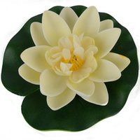 Wholesale orange lotus flower water resale online - 1 cm Floating Lotus Artificial Flower Wedding Home Party Decorations DIY Water Lily Mariage Fake Plants