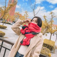 Wholesale black women hair weave styles for sale - Group buy 2018 women Knitted wool new scarfs fashion style Korean scarf hair ball long tassel shawl dual use couple student collar