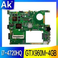 материнская плата fm1 оптовых-AK GTX960M-4GB G771JW Материнская плата с i7-4720HQ Для ASUS ROG G771JM G771JK G771J G771 Тест материнской платы ноутбука Материнская плата в порядке
