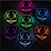 Wholesale led glow costumes for sale - Group buy Halloween Mask LED Light Up Party Masks The Purge Election Year Great Funny Masks Festival Cosplay Costume Supplies Glow In Dark