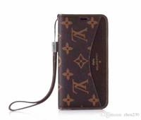 iphone çiçek cüzdanları toptan satış-Eski çiçek ekose kapak cüzdan deri kılıf telefon kılıfı iphone Xs max Xr X 7 7 artı 8 8 artı 6 6 artı kart yuvası ile