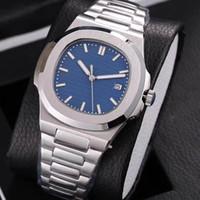 синие мужские часы оптовых-Роскошные топ Nautilus спортивные часы мужчины Марка автоматические Monement часы розовое золото задняя крышка синий циферблат из нержавеющей мужские механические наручные часы