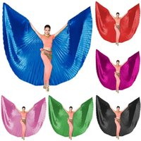 Wholesale costume butterfly for women resale online - Adult Belly Dance Butterfly Wings For Women Gold Bellydance Costume Accessories Indain Stage Performance Dancing Wear Colors