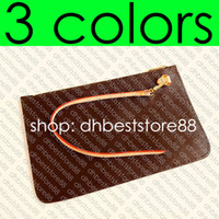Wholesale zip cell phone pouch for sale – best Designer Shopping Bag s REMOVABLE ZIPPED POUCH ZIPPERED CLUTCH Fashion Womens Mini Pochette Accessoires Cle Phone Bag Charm Toiletry Pouch