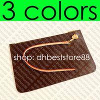 Wholesale zip long wallet resale online - Designer Shopping Bag s REMOVABLE ZIPPED POUCH ZIPPERED CLUTCH Fashion Womens Mini Pochette Accessoires Cle Phone Bag Charm Toiletry Pouch