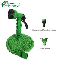 Wholesale expandable hose for garden resale online - 25 FT Expandable Hot Magic Flexible Garden Water Hose For Car Hose Pipe Plastic Hoses garden set to Watering with Spray Gun