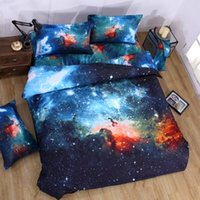 Wholesale 3d satin bedding set for sale - Group buy 3D Bedding Sets Universe Space Galaxy bed set Quilt Pillow Duvet Cover bed linens Single Double Queen Size cotton satin Quilted1