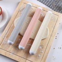 pãezinhos venda por atacado-Plástico Embossing Rolling Pin Baking Pastry Roller Baguette Pão Torrada Bolinho Massa Rolo Atacado QW9879