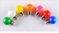 3w globo colorido rgb led venda por atacado-E27 3W lâmpada LED colorido das luzes de Natal Bombillas LED Parafuso SMD2835 Globe Lamp Moda Disco Party DJ luzes feriado decroation