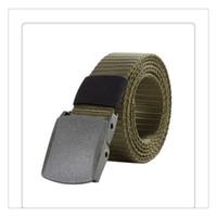 ingrosso cinghie calde moderne-Cintura in nylon con fibbia automatica moderna Cintura tattica militare maschile Cintura in tela militare da uomo Sopravvivenza 125CM Vendita calda