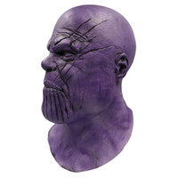yetişkinler için en iyi oyuncaklar toptan satış-[Yeni] Cosplay Avengers Marvel Kahramanları Thanos maskesi lateks Action Figure Oyuncak modeli kostüm partisi Yetişkin çocuk en iyi hediye oyuncaklar
