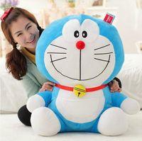 boneca gato doraemon venda por atacado-1 pcs 40 cm Suporte Por Mim Doraemon Boneca De Brinquedo De Pelúcia Gato Caçoa o Presente Do Bebê brinquedo Kawaii Plush Animal Melhores Presentes Para Bebês E Meninas J190718
