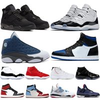 Wholesale gold silver thread for sale - Group buy Newest High Flints Bred s Men Women Jumpman Basketball Shoes Concord White Royal Toe Hare Platinum Tintpace Stylist Sneakers Trainer