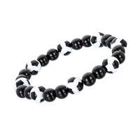 armbänder aus porzellan großhandel-Made In China Handgemachtes Armband In Roter und Weißer Farbe Beliebte Fußball Stil Perle Armband Förderung Geschenke Billig Schmuck