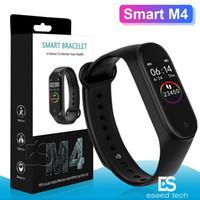 pulseira de saúde pulseira venda por atacado-M4 inteligente Banda de Fitness Rastreador relógio de pulseira de freqüência cardíaca relógio inteligente 0,96 polegadas Smartband Health Monitor Pulseira PK mi 4 M3