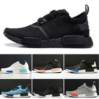 Wholesale cycle shoes resale online - 2019 Black white red men women running shoes NMD R1 Primeknit Japan Triple OG pink runner breathable sports shoe trainer fashion sneakers