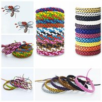 Wholesale leather bracelet stock for sale - Group buy Leather Mosquito Repellent Bracelet Anti mosquito Wristband Anti mosquito Bracelet Pest Control CCA11532 A