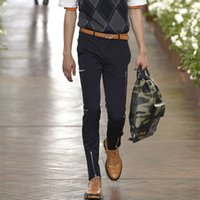 Wholesale zippers repair resale online - 27 Multi zipper designer men s casual pants new trousers fashion trend repair pants plus size costumes