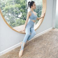 Wholesale padding for hip for sale - Group buy 2 yoga sets crossband padded bra hip push up pants sports wear for women gym clothing workout clothes slim fitness set