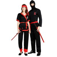 Wholesale ninja decorations resale online - Adults Men Ninja Costume Warrior Cosplay Costumes Christmas Halloween Masquerade Party Dress Decoration