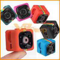 Wholesale night action cameras resale online - SQ11 MINI Camera Sports HD DV P P Night Vision Mini Camcorder Action Camera DV Video Voice Recorder Micro Camera