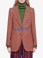 blazer chica de moda al por mayor-mujeres lona de las muchachas de la chaqueta chaqueta de solapa muesca de manga larga de un solo pecho abrigos de gran tamaño superior prendas de vestir exteriores de la vendimia de gama alta traje de lujo de la moda