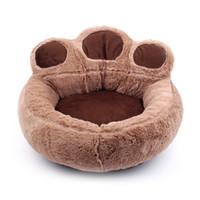 haustier plüsch hundehäuser großhandel-Neue Mode Niedlichen Hund Bett Erwärmung Hund Haus Katzen Welpen Winter Weiche Nest Kurze Plüsch Sofakissen Haus Pet Produkte