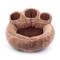 peluş köpek evleri toptan satış-Yeni Moda Sevimli Köpek Yatak Isınma Köpek Evi Kediler Yavru Kış Yumuşak Yuva Kısa Peluş Kanepe Yastık Ev Pet Ürünleri