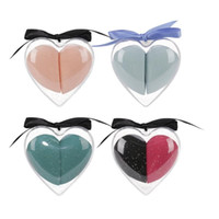 Wholesale use material resale online - O TWO O set Makeup Sponge Heart Shape Box Non Latex Material Cosmetic Puff Powder Foundation Use Beauty Make Up Tools
