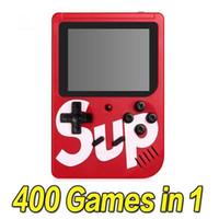 farbkissen tragbar großhandel-SUP-Spielekonsole 400 in 1 tragbarer Handspielauflage Retro 8 Bit 3 Zoll Farb-LCD-Anzeige Beste Geschenke für Kinder