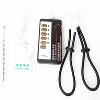 kits de tortura al por mayor-Doble salida Electro estimulación del pene Tortura BDSM Plug Anillo Bondage Masturbador Terapia de choque eléctrico Kit Juguetes sexuales