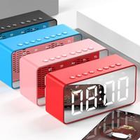 pantalla de regalos al por mayor-BT506 Wireless Pantalla LED Mini pantalla del espejo Reloj despertador Altavoz Bluetooth regalo caliente 2019