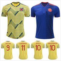 nueva camisa de té al por mayor-2019 2020 NUEVA camiseta de la Copa América Colombia 2019 camisetas de fútbol local de Colombia 19 a 20 FALCAO JAMES CUADRADO TEO BACCA camiseta de fútbol