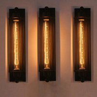 lampe à lanterne murale achat en gros de-Couloir Lampe Murale Vintage E27 110-220V LED Lumière Industrielle Eye-lantern Lumière Rétro Intérieur Avec Ampoule LED Tungstène