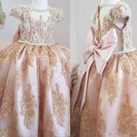 0156b8e20 Wholesale little girls dresses for sale - Group buy Custom Made Major  Pearls Lace Flower Girl