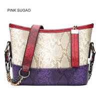 Wholesale single chain bucket for sale - Group buy Pink sugao designer women shoulder handbag luxury fashion leather shoulder bag mini casual bags famous brand two tone crossbody bag for lady