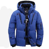 marcas de vestuário para homens venda por atacado-2018 alta qualidade 90% pato branco grosso para baixo jaqueta homens casaco masculino marca quente clothing inverno jaqueta outwear