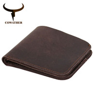 Wholesale brand handmade leather wallet for sale - Group buy Cowather Vintage Cross Style Cow Genuine Leather Wallets For Men Top High Quality New Craft Handmade Popular Original Brand MX190719