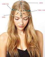 bandeaux pompons pour les femmes achat en gros de-Bijoux de cheveux De mode Chaînes Décorations Bandeaux Perle Tassel Accessoires de cheveux pour femmes Filles Dames Bandeaux Tête Diamants Bandeaux