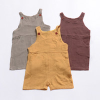 Wholesale onesie clothes for sale - Group buy Baby Girls boys Romper INS Solid color Jumpsuits Summer fashion Boutique Kids Climbing clothes Infant Toddler Onesie C6221