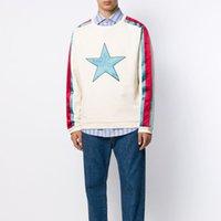 mulheres estrela sweater venda por atacado-Luxo Logo Europeia Carta Hoodie Mais de Estrela camisola Men High Street e alta qualidade mulheres Designer Sweater S ~ 2XL HFXHWY032