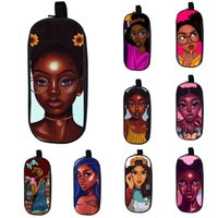 bleistiftbeutelentwürfe großhandel-Cartoon Student Federmäppchen 20 Design Kids Big Capacity Afro Cartoon Mädchen Schreibwaren Veranstalter Kids Wear Resistant Zipper Pencil Bag 06