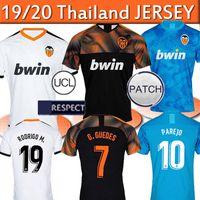 camisa de valencia al por mayor-Tailandia Valencia CF camiseta de fútbol RODRIGO 19 Uniformes 20 PAREJO Kang In Mens 2019 20220 hogar lejos camiseta de fútbol GAMEIRO GAYA GUEDES