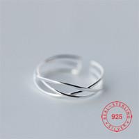 bagues fantaisie pour femmes achat en gros de-trois gros géométrique ouvert couches Ligne Midi Fantaisie Finger Rings Designs Bijoux pour les femmes rhodié Bijoux